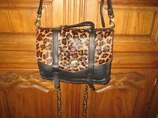 Cynthia Rowley Leopard Ponyhair Messenger Bag, New with Tags, Detachable strap