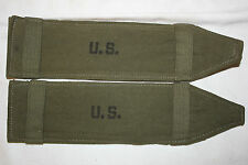 WW 2 US Military Issue  Army Shoulder Strap Pads DECATUR TENT Co. 1945 Set of 2