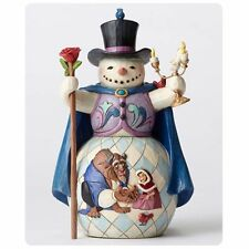 FIGURE DISNEY TRADITIONS BEAUTY AND THE BEAST SNOWMAN STATUE BELLE BESTIA #2