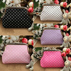 NT Fashion Change Purse Coin Bag Women Round Dot Wallet Mini Framed Coin Case
