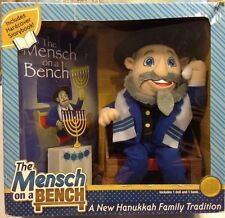 Mensch on the Bench    NEW NIB   Happy Hanukkah!
