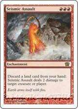 SEISMIC ASSAULT Eighth Edition MTG Red Enchantment RARE