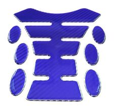Blue Carbon Fibre 3D Resin Gel Tank Pad K1