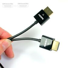New 1M 3.28FT Ultra Thin Slim HDMI HDTV Lead 1.4 GOLD 1080P 3D High Speed Cable