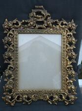 "Large 18th Century French Rococo Gilt Bronze Frame 13' x 17"" VGC"