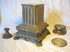 large ornate cast metal claw foot lamp light base parts refurbishing stand L&L