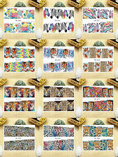 12 Sheets Nail Art Water Transfer Decal Sticker Leopard YB1069-1080