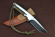 """Spider-Man"" Sharp FULL TANG D2 6mm 60HRC camp Jungle hunting bowie knife FK463"