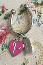 CLINIQUE PINK HEART KEYCHAIN