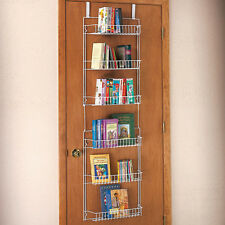 over the door kitchen food closet pantry storage shelf spice rack can organizer