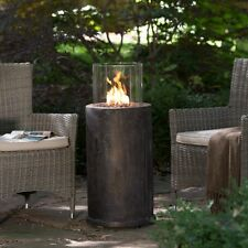 Red Ember Kona Gas Outdoor Patio Fire Column Fire Pit with Cover