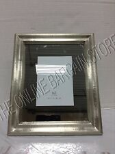 Pottery Barn Silver Mirrored Wedding Bridal Display Picture Photo Frame 5x7