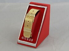 Guess Polished Goldtone Metal Mesh Belt Buckle Bracelet Boxed $29.50