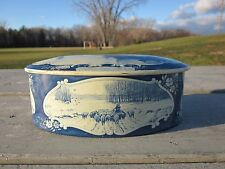 Older Droste Holland Metal Biscuit Tin Nautical Windmill , Boats, Sheep, R6T3