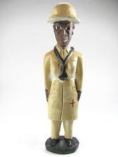 Art africain- statue colon Baoulé femme médecin - Doctoress Baule colon statue