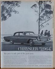 Vintage 1962 magazine ad for Chrysler - photo of Newport Chrysler's best seller