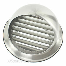 Stainless Steel Wall Air Vent Kitchen Extractor Outlet Insect Midge Grille 125mm