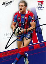 Signed 2012 NEWCASTLE KNIGHTS NRL Card CHRIS HOUSTON