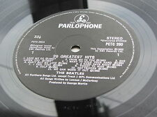 THE BEATLES    20 GREATEST HITS 1987 UK   LP   RARER LABEL  BARCODED SLEEVE