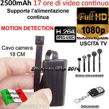 Spy MICRO Camera Spia FULL HD ALIMENTATA MOTION DETECTION TELECAMERA MICROCAMERA