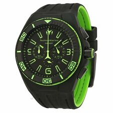 New Mens TechnoMarine 112002 Night Vision II Chronograph Black PVD Strap Watch