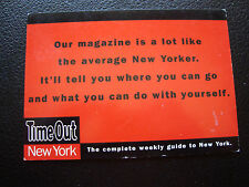 - carte postale time out new york (cy73)