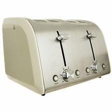 KITCHEN COLLECTION TRADITIONAL CREAM DEFROST REHEAT 4 SLICE TOASTER WIDE SLICES