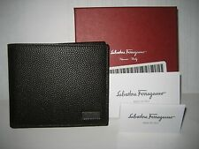 NEW BOX Salvatore Ferragamo Mens Sunrise Portfolio Italian Leather Bifold Wallet