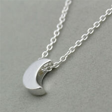 Tiny Crescent Moon Pendant Necklace Fashion Silver/Gold Plated Necklaces Jewelry