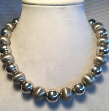 "Vintage TAXCO MEXICO Sterling Silver 925, 20"" Wilma Flintstone NECKLACE 153.6g"