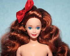 FABULOUS! Long Thick Red Haired Green Eyed NUDE Twist & Turn BARBIE for OOAK