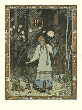 IVAN BILIBIN ILLUSTRATION FAIRY TALE VASILISA BEAUTIFUL 1900 ART PRINT 1390OMA