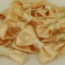 25 x Champagne  Hair Slides Bobbles Custom Satin Ribbon  Bow Bows 40mm BB8