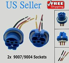 2X 9007 9004 Female Wire Connector Wiring Harness Pigtail plug socket adapter
