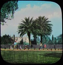 Glass Magic Lantern Slide CAWNPORE DISTANT VIEW OF MEMORIAL WELL C1880 INDIA