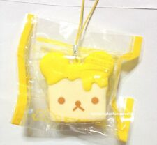 Japan San-X Rilakkuma Bear Honey Butter Toast Bread Squishy Strap *DEFECT*