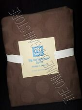 Pottery Barn Teen Big Dot French Matelasse Bed Duvet Cover Full Queen FQ Coffee