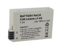 Battery Pack for Canon LP-E8 LPE8 EOS 550D 600D Kiss X5 Rebel T2i Camera NEW