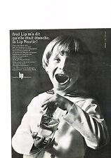 PUBLICITE  1964   FRED LIP   montre Suisse