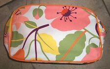 424 Clinique Pink Floral Zippered Cosmetic Make-Up Bag Purse