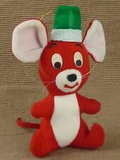 """Dream Pets Dakin Red Mouse Decoration Ornament / Christmas Holiday / 1979 / 6"""""""