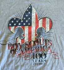 Boy Scouts Of America 100 Years Of Scouting T Shirt Small Gray Shirt Sleeve