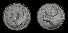 Canada 1940 Silver Twenty-Five 25 Cent Piece King George VI MS-62