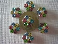 2 Hole Slider Beads Larger Daisy Lt Mix Crystals Made with Swarovski Elements #7