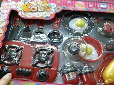Set pentole fornellino cucina Kit gioco di qualità giocattolo toy a35