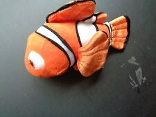DISNEY STORE FINDING DORY NEMO PLUSH DOLL FIGURE ORANGE WHITE TROPICAL FISH TOY