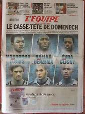 L'Equipe du 21/11/2008 - Foot : le casse tête de Domenech - France-Australie