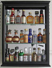 SOLID WOOD, Mini Liquor Bottle Display Case Cabinet Shadow Box, CD06B