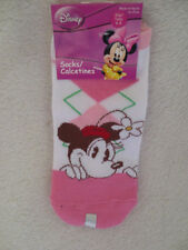 Young Girl Old Minnie Mouse Sock White/Pink/White Size 6-8 New