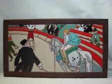 VINTAGE ARIUS WALL TILE CIRCUS Toulouse Lautrec Lequestrienne du cirque fernando